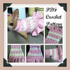 Littlest Bo Peep Crochet Dog Sweater