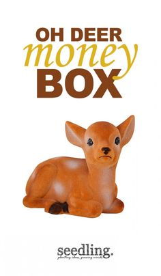 For saving all your pennies in our adorable furry bank!