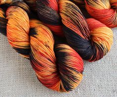Velvet Sunset - Hand dyed sock yarn by GnomeAcres.