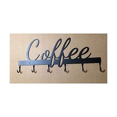 Cup/Mug Rack with hooks for Cups and Mugs, Coffee -- Read more  at the image link. (Amazon affiliate link)