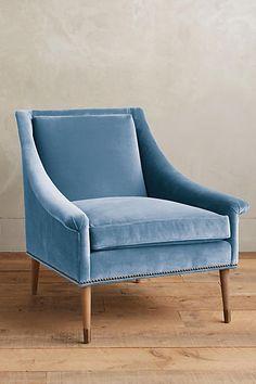 Velvet Tillie Armchair - this is a pretty color...