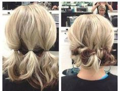 Easy hairstyles for short hair; Updo hacks, tips, tricks tutorials perfect for prom, holiday season, etc; Should-length locks; Bobs, Lobs styling how to (how to bun hair bridesmaid) #ShortHairStyles