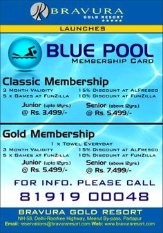 Bravura Gold Resort launches Blue Pool Membership Card according to your taste and comfort.