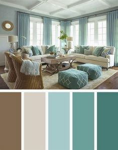 21 Living Room Color Schemes That Express Yourself. Living Room Color Scheme that will Make Your Space Look Elegant. These living room color schemes will affect how the guests perceive the interior of your home. Let's enjoy these ideas and feel pleasure! Room Colors, Home Living Room, Living Room Color Schemes, Brown Living Room, Room Color Schemes, Brown Living Room Color Schemes, Living Room Diy, Room Paint Colors, Room Interior