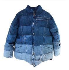 Denim inspiration - The denim puffer – Denim inspiration Fashion Mode, Denim Fashion, Look Fashion, Fashion Design, Petite Fashion, Fashion Outfits, Denim Jeans, All Jeans, Denim Shirts