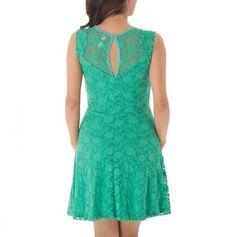 Sheer Yoke Lace Dress