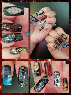 Painted Nail Art, Hand Painted, Star Wars Nails, Class Ring, Empire, Harry Potter, Facebook