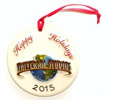 Universal Studios Theme Park Florida Dated Happy Holidays China Plate Christmas Ornament 2015 >>> See this great product.
