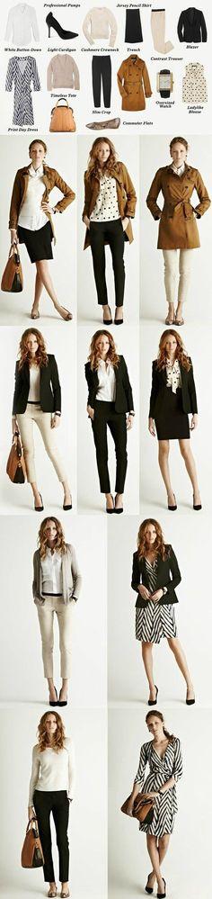 armário cápsula, roupas sociais, moda feminina.