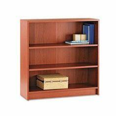 * 1870 Series Bookcase, 3 Shelves, 36w x 11-1/2d x 36-1/8h, Henna Cherry by MotivationUSA. $158.57. * HON 1870 Series square edge laminate bookcase. Color: Henna Cherry; Material: Laminated; Shelf Count: 3.