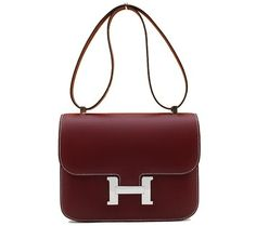 Hermes Chamonix Calf Constance 25 Red Shoulder Bag. Get one of the hottest styles of the season! The Hermes Chamonix Calf Constance 25 Red Shoulder Bag is a top 10 member favorite on Tradesy. Save on yours before they're sold out!