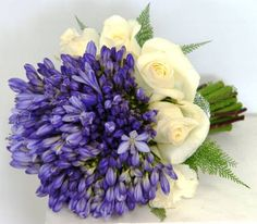IVORY VENDELE ROSES & AGAPANTHUS - something a little different.