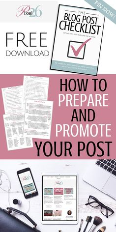 How to Prepare and Promote your Blog Post - PIN IT NOW!! Free Download #blogtips #socialmediamarketing #howtostartablog @pixel26dotcom Check out this blog - tips, tricks and tools for blogging and social media! Pin Now!