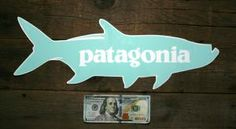 Patagonia trout fitz roy sticker free shipping gifts for Patagonia fish sticker