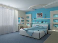 Chic Blue Girl Bedroom Ideas