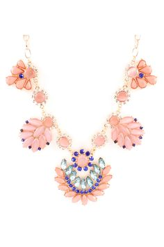 Lamire Necklace in Blush Marquise
