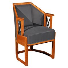 Vienna Secessionist Arm Chair / designed by Koloman Moser / c. 1910