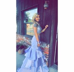 **Customer Spotlight**🔦 Our customer @_karleycpatrick SLAYED on prom night in @morileeprom. Thank you for allowing French Novelty to be a part of your special day! 💕  #frenchnovelty #morileeprom #2piecedress #mermaiddress #prom2k17 #promdress #customerappreciation