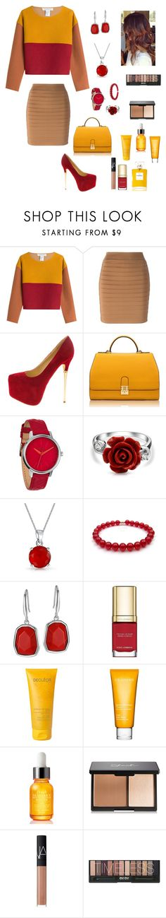 """""""Lead by example"""" by aminahdarden ❤ liked on Polyvore featuring Philosophy di Lorenzo Serafini, Balmain, Florian London, Nixon, Bling Jewelry, Dolce&Gabbana, Decléor, Clarins, Fresh and NARS Cosmetics"""