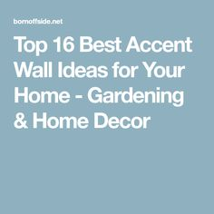 Top 16 Best Accent Wall Ideas for Your Home - Gardening & Home Decor