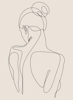 dissol - one line art - pastel Art Print by dronathan Minimalist Drawing, Minimalist Art, Outline Art, Line Art Design, Abstract Line Art, Pastel Art, Art Drawings, Abstract Drawings, Drawing Sketches