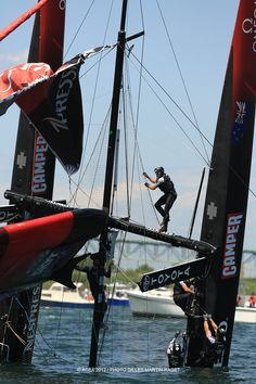 Emirates Team NZ capsizes - (This is why I sail keelboats - I'm not fond of getting wet in water less that 80* warm)