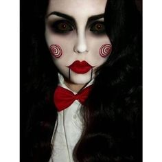 45+ Examples of DIY Halloween Makeup ❤ liked on Polyvore featuring beauty products and makeup
