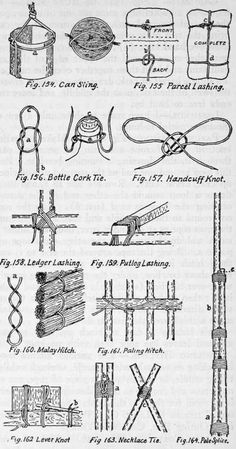 Knots, Hitches, And Lashings. Part 5 Survival Life Hacks, Survival Prepping, Survival Skills, Rope Knots, Macrame Knots, Bushcraft, Scout Knots, Survival Knots, Knots Guide
