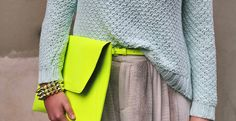 neon and knitwear
