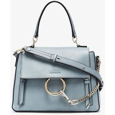 Chloé Blue Faye Small Leather Shoulder Bag