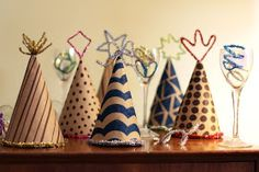 Salsa Pie: family diy: party hats