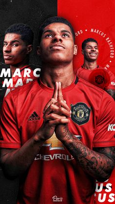 Manchester United Poster, Manchester United Wallpaper, Marcus Rashford, Football Design, Football Wallpaper, Old Trafford, Poster Ideas, Man United, Football Players