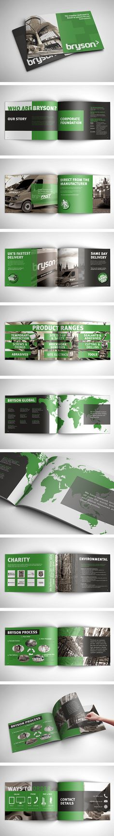Bryson Corporate Profile - This piece of corporate print work is for a company that needed a quality looking business profile. It is used in face to face visits with clients when outlining the benefits of their company. #printdesign #magazine Corporate Profile, Business Profile, Print Design, Web Design, Logo Design, Editorial Design, I Am Awesome, Magazine, Eye