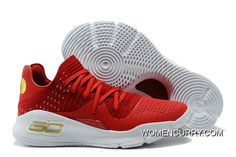 "5af601a9300b Discount Under Armour Curry 4 Low ""Wine"" Red White New Release"