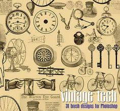 Sunday, January 8, 2012  Vintage Download - Steampunk Brushes for Photoshop