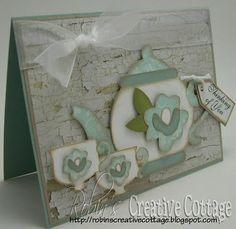 Cricut Tea For Two Card. Once Upon a Princess Cartridge.  *