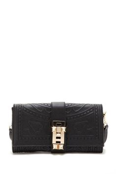 Black and gold clutch