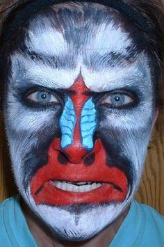 monkey face paint - Bing Images