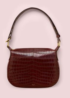 Small Saddle Bag in Crocodile - Spring / Summer Collection 2016 | CÉLINE