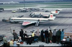 Heathrow Airport 1965 - British European Airways - G-APMG & G-ARPP by FotoSupplies, via Flickr