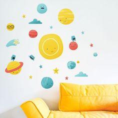 Wandaufkleber Sonnensystem von izzybizzybee auf DaWanda.com