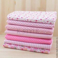 Купить Набор тканей - розовый - бледно-розовый, ткань, ткани, ткань для шитья, ткань хлопок