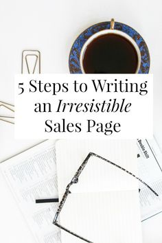 What steps should you take to write a sales page? Selling your stuff doesn't need to feel gross or hard! Promise. // sarahvonbargen.com