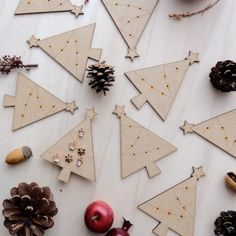 Wooden Christmas Tree Card with Earrings 02 by VanesDay on Etsy Wooden Christmas Trees, Christmas Tree Cards, Christmas Gifts, Gift Ideas, Earrings, Etsy, Holiday Gifts, Ear Rings, Christmas Presents