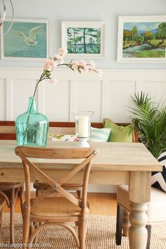 You'll love this light bright and cheery spring home tour at the happy housie-31