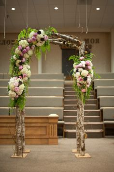 Wedding arch, needs to be in an outdoor setting to do it justice, but if it were around trees and greenery, very pretty