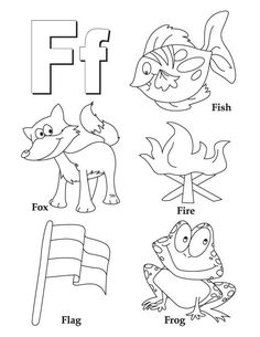 My A to Z Coloring Book Letter F coloring page - pictures for every letter of…