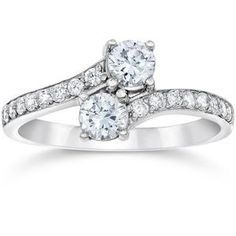Shop a great selection of Forever Us Two Stone Round Diamond Solitaire Ring White Gold. Find new offer and Similar products for Forever Us Two Stone Round Diamond Solitaire Ring White Gold. Diamond Solitaire Rings, Diamond Engagement Rings, Diamond Stone, Engagement Jewelry, Black Diamond, Natural Diamonds, Round Diamonds, White Diamonds, Lab Created Diamonds