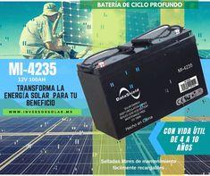 #Baterías DataShield 12V-100Ah $5,990 para #sistemassolares de #cicloprofundo, Selladas libres de mantenimiento con vida útil de 4 a 10 años, fácilmente recargables. Para inversores solares. Accesorio disponible en datashield.net/tiendaoficial.html Html, Solar Inverter, Solar Power, Budget, Products, Life