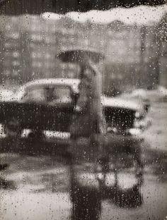 Picture this.. — Sabine Weiss Rain, Paris, 1957.